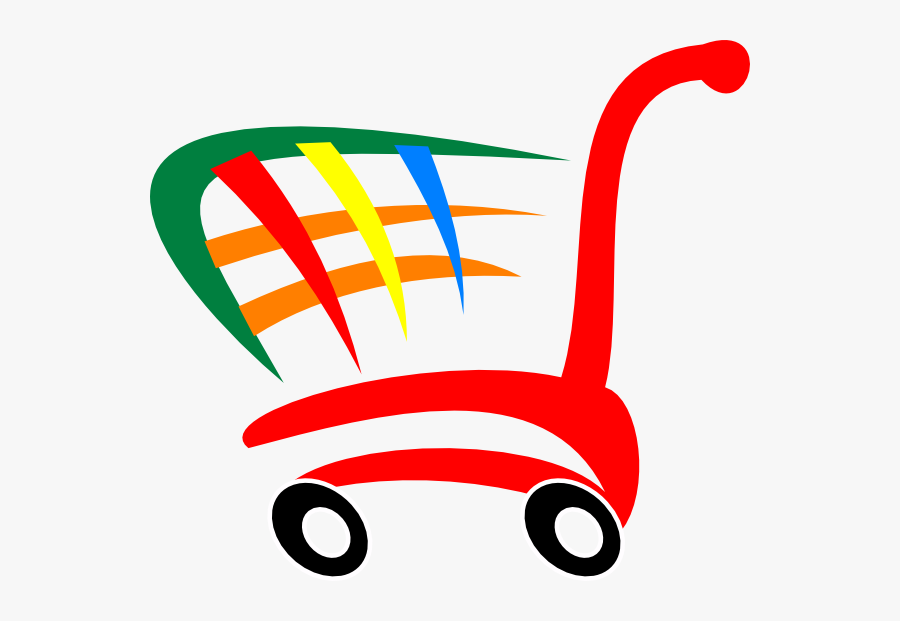 Shopping Cart Clip Art At Clker - Colorful Shopping Cart Png, Transparent Clipart