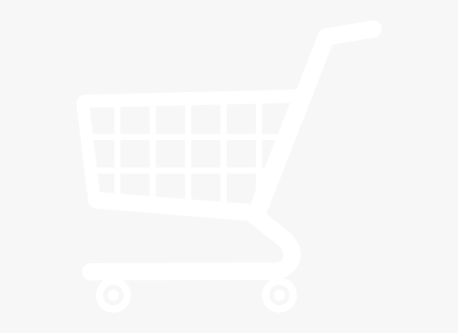 Shopping Cart White Png, Transparent Clipart