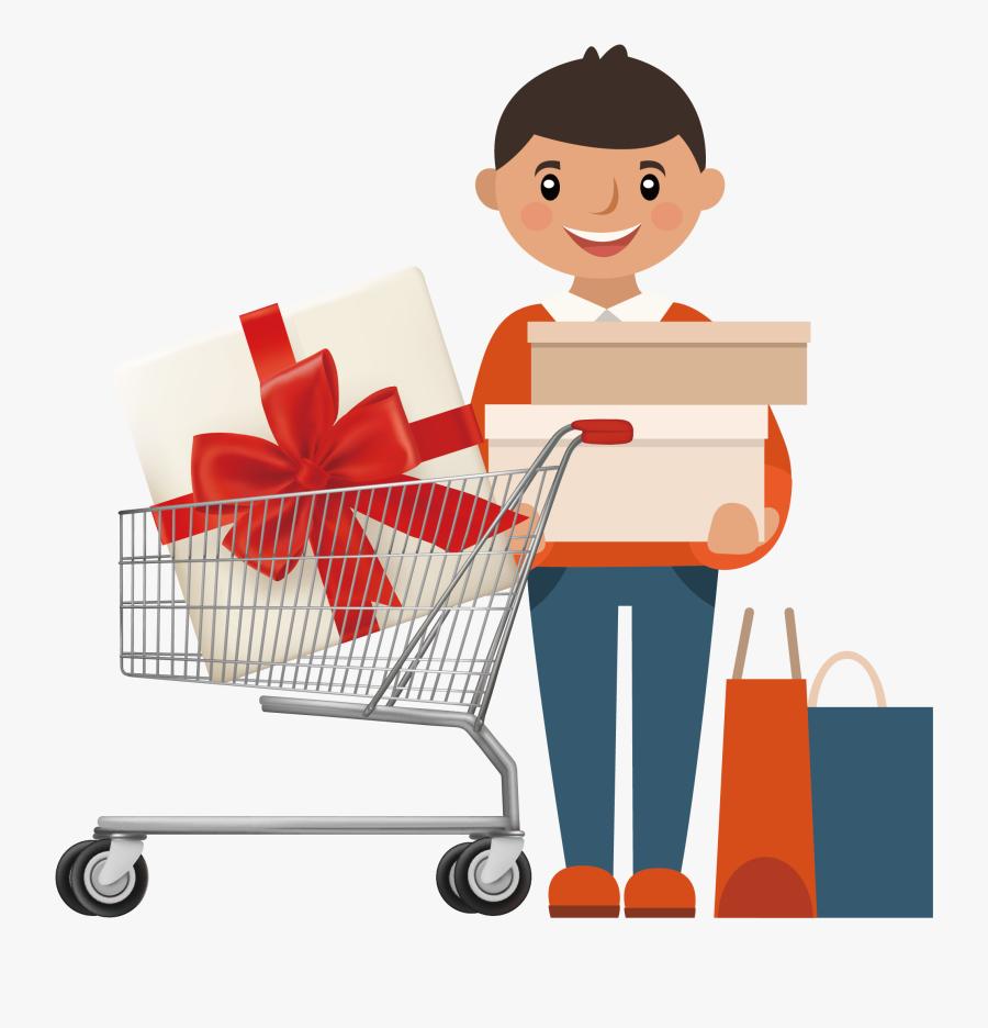 Online Shopping Shopping Cart Stock Photography - Online Shopping Cartoon Png, Transparent Clipart