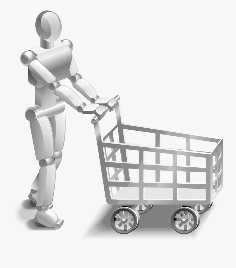 Shopping Cart Shopping Cart Free Picture - Artificial Intelligence In Online Shopping, Transparent Clipart