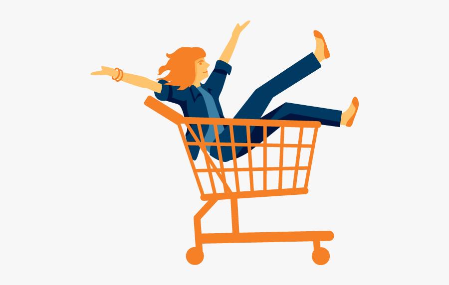 Consumer Goods Expertise Alorica - Shopping Cart, Transparent Clipart
