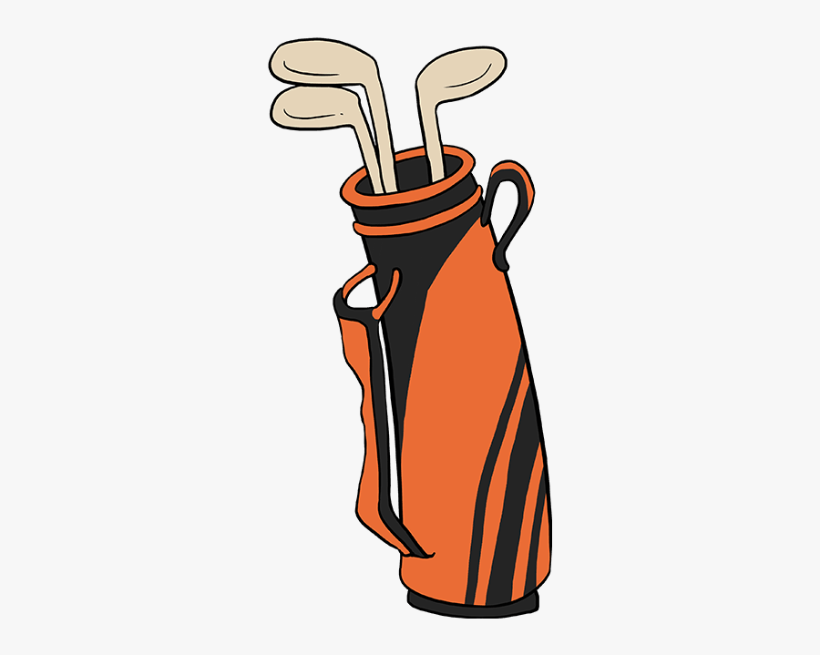 How To Draw Golf Club Bag Draw A Golf Bag Easy Free Transparent Clipart Clipartkey