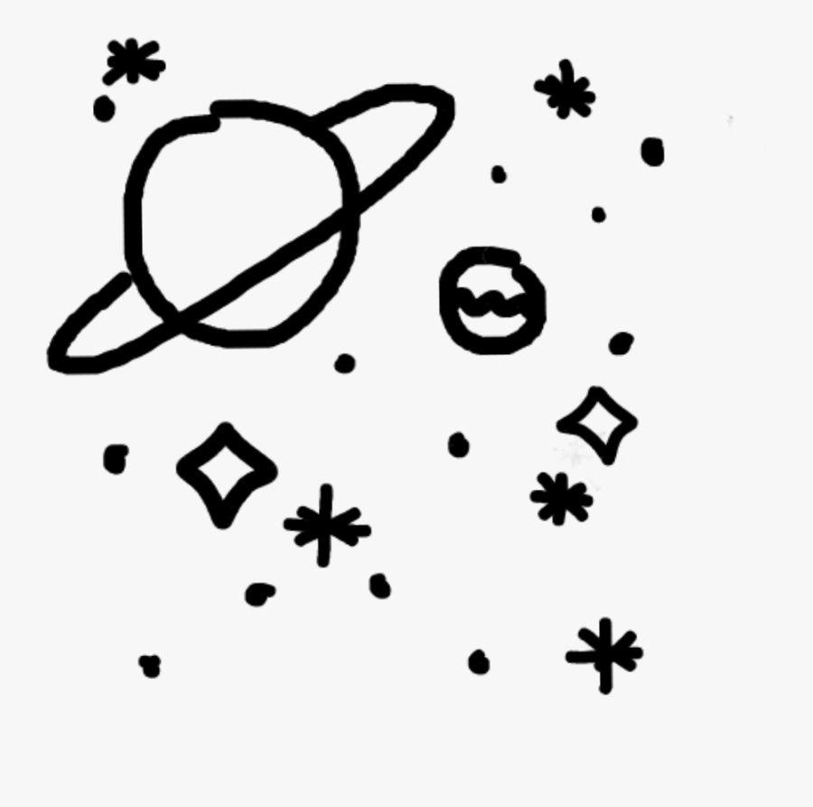 Galaxy Star Clipart - Planet With Ring Drawing, Transparent Clipart