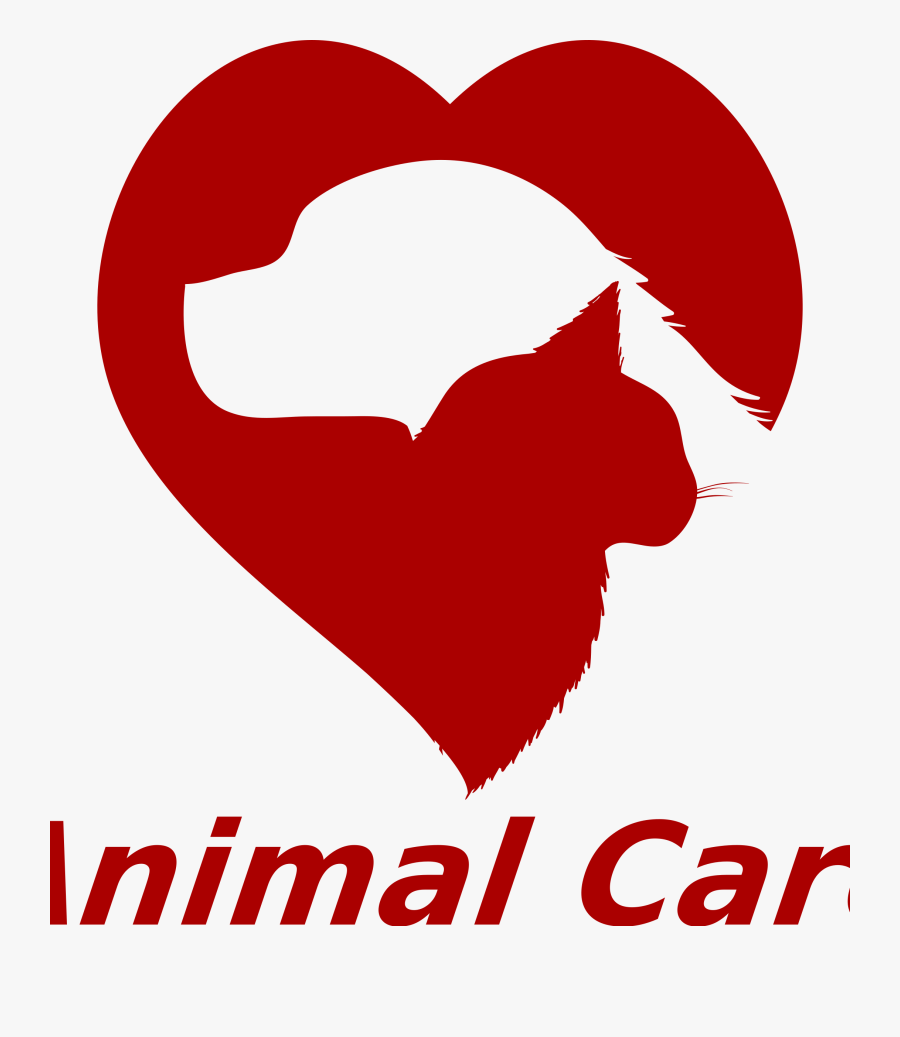 Animal Care By Donchico - Dog And Cat Heart Silhouette, Transparent Clipart