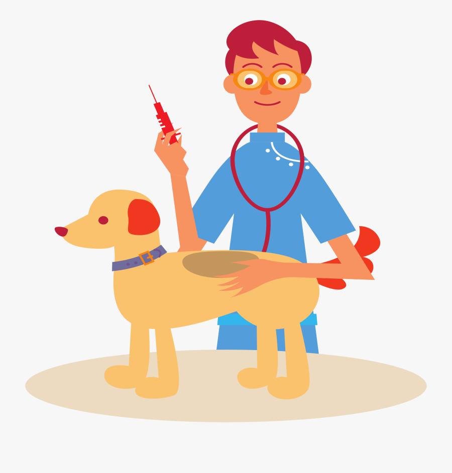 Veterinarian And Dog - Veterinarian Png, Transparent Clipart