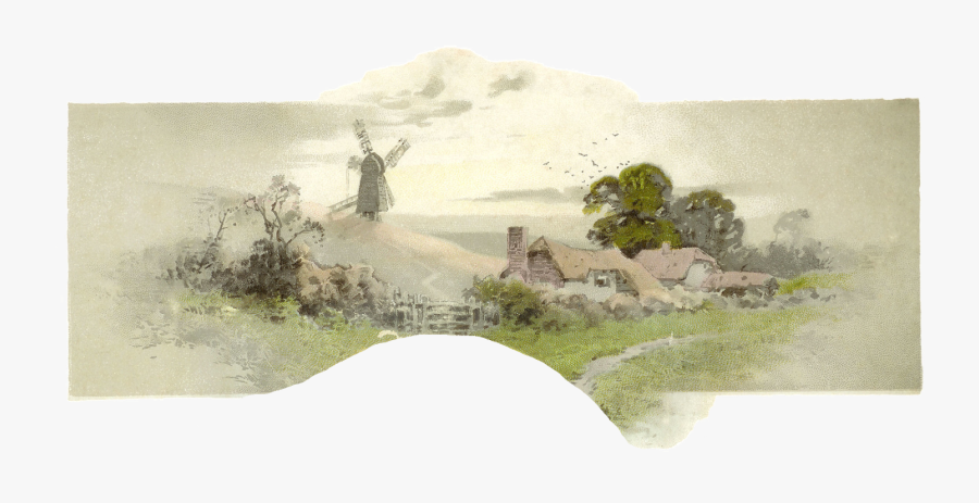 Windmill Clipart Hill - Painting, Transparent Clipart