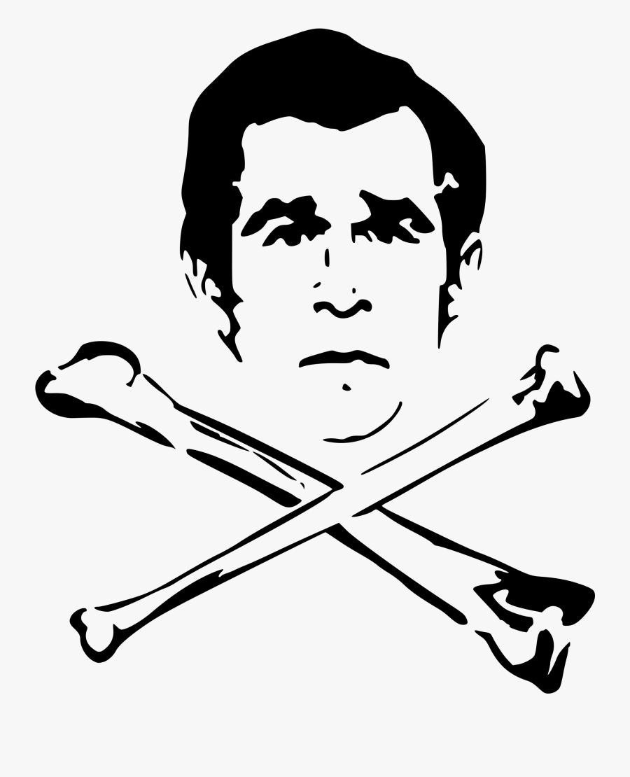 Bush And Bones - George Bush Clipart, Transparent Clipart