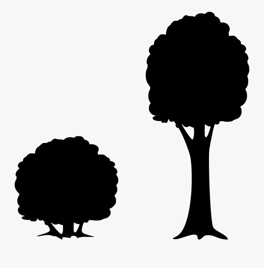 Transparent Tree Graphic Png - Bush Silhouette Clipart, Transparent Clipart