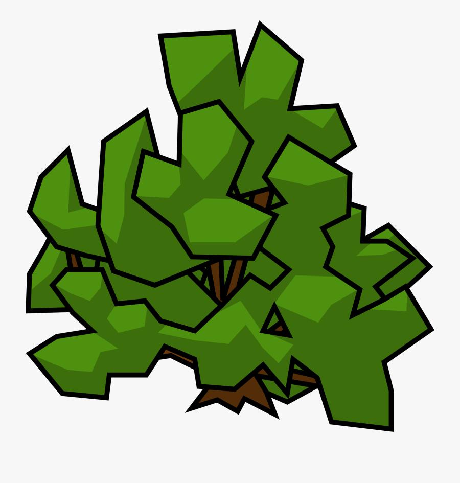 Bush Clip Art Transparent - Drawing Plant Bush, Transparent Clipart