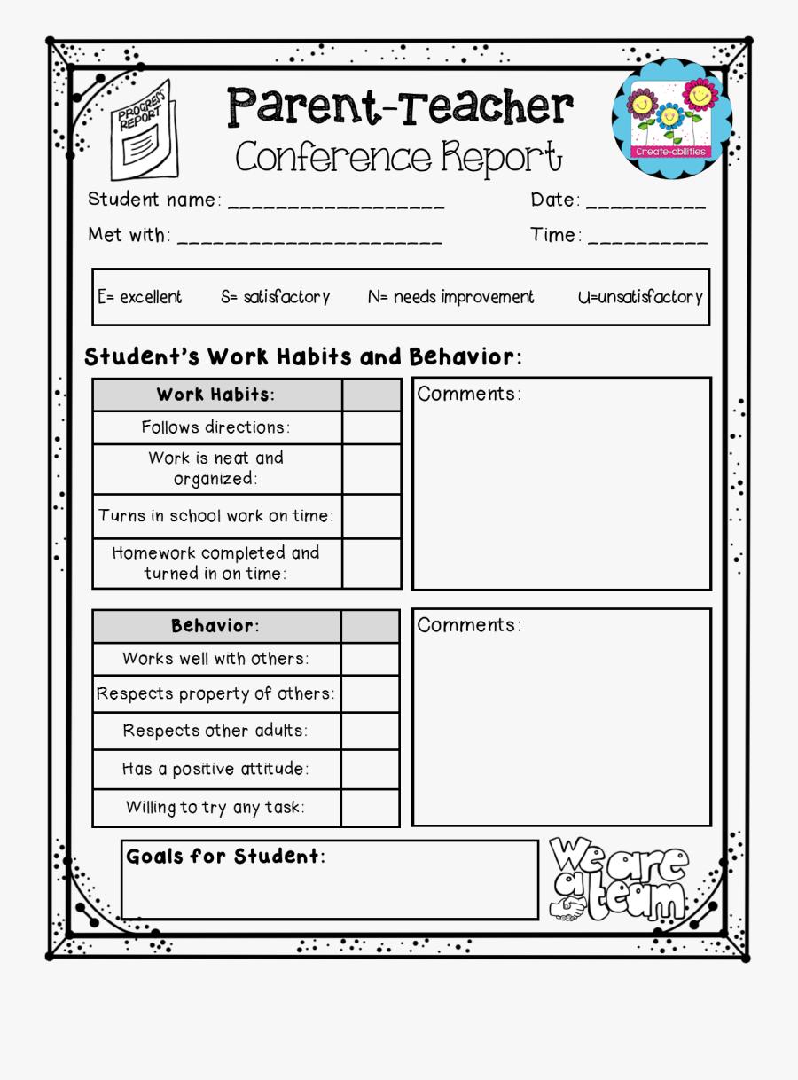 Parent Teacher Conference Papers, Transparent Clipart