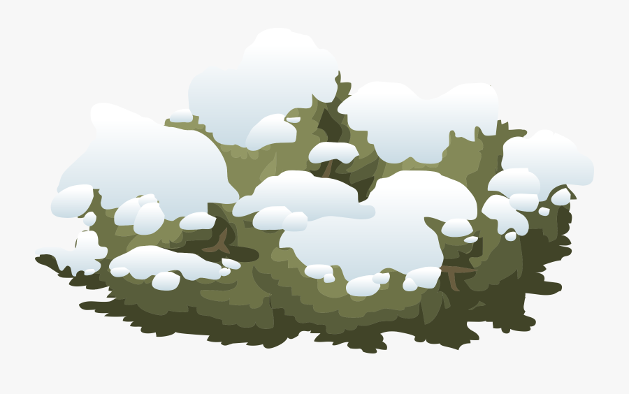 Tree,military Camouflage,grass - Cartoon Bush With Snow, Transparent Clipart