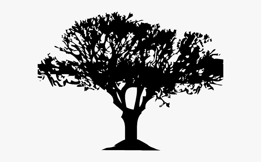 Bush Clipart Bunch Tree - Jungle Tree Silhouette Png, Transparent Clipart