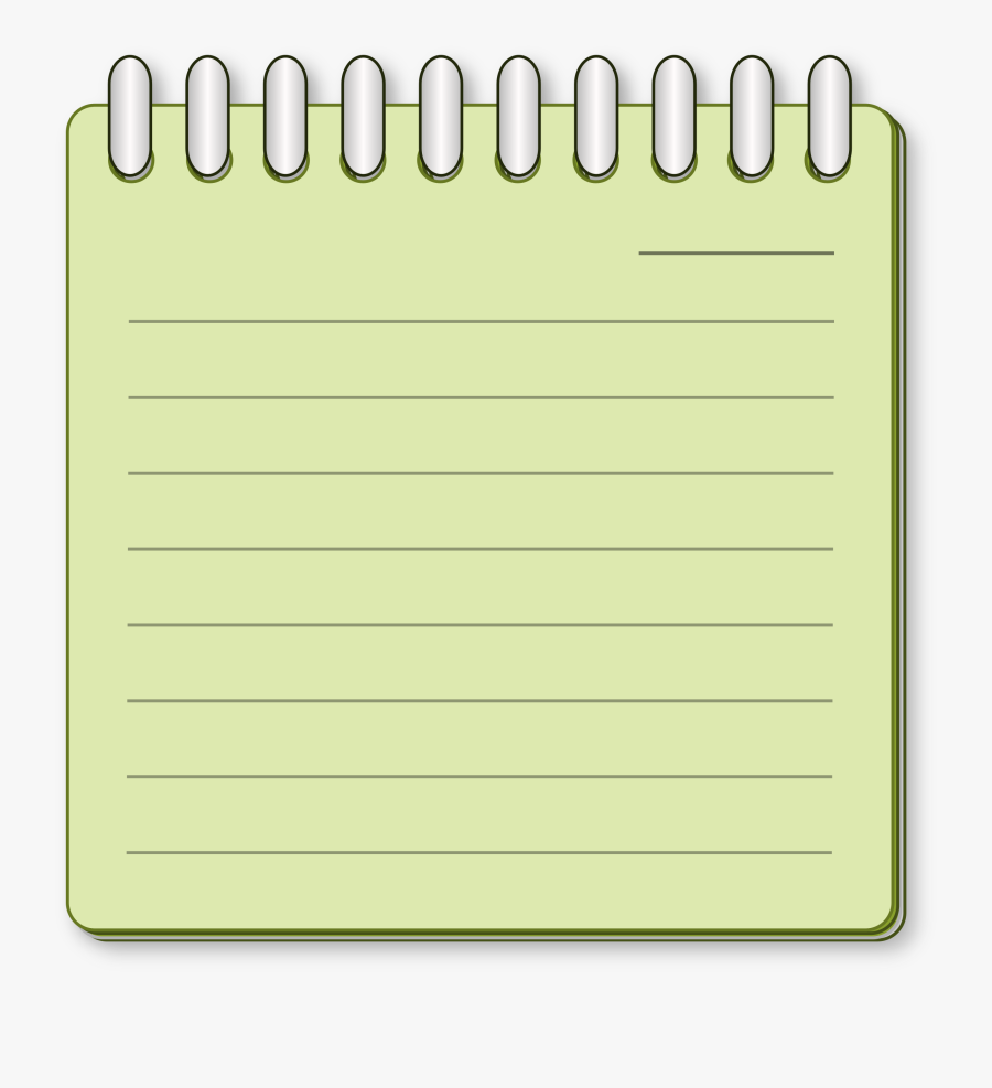 Notepad Free Clipart - Paper, Transparent Clipart