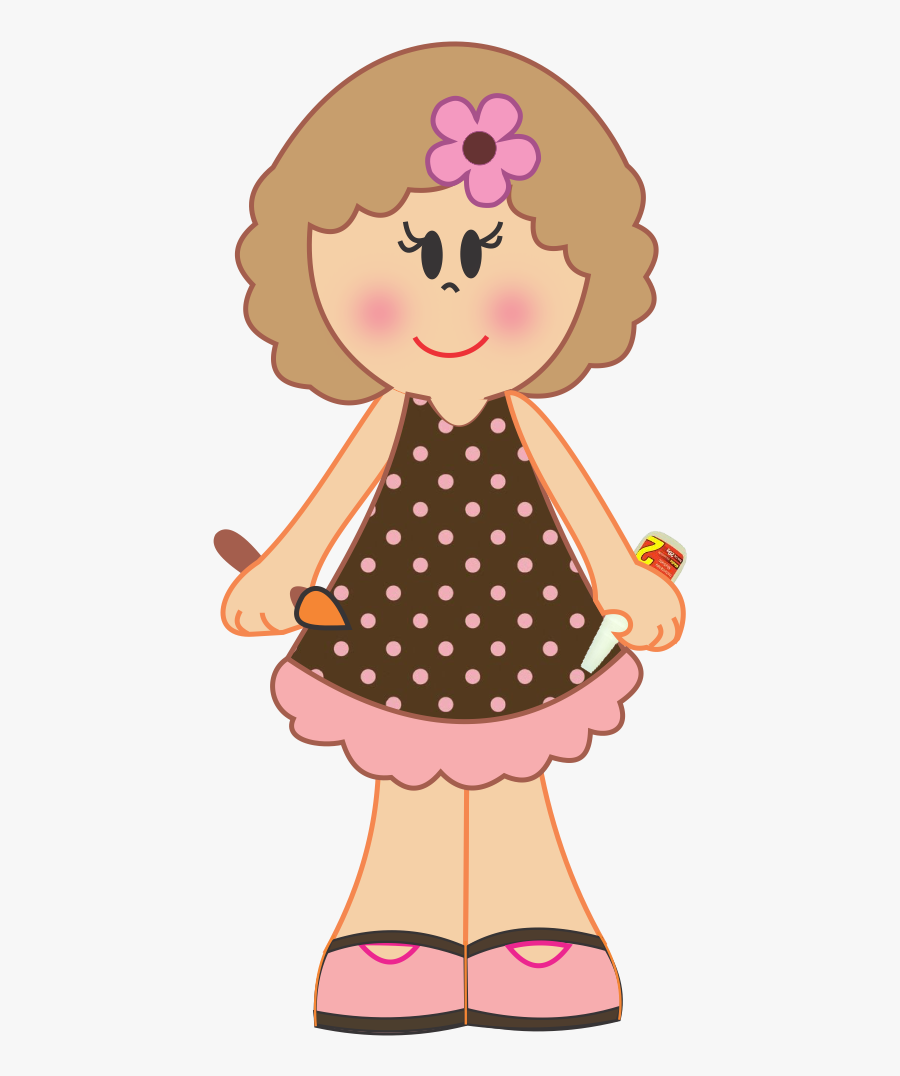 Bonecas Os Meninas Dolls - Desenhos De Meninas Em Eva, Transparent Clipart