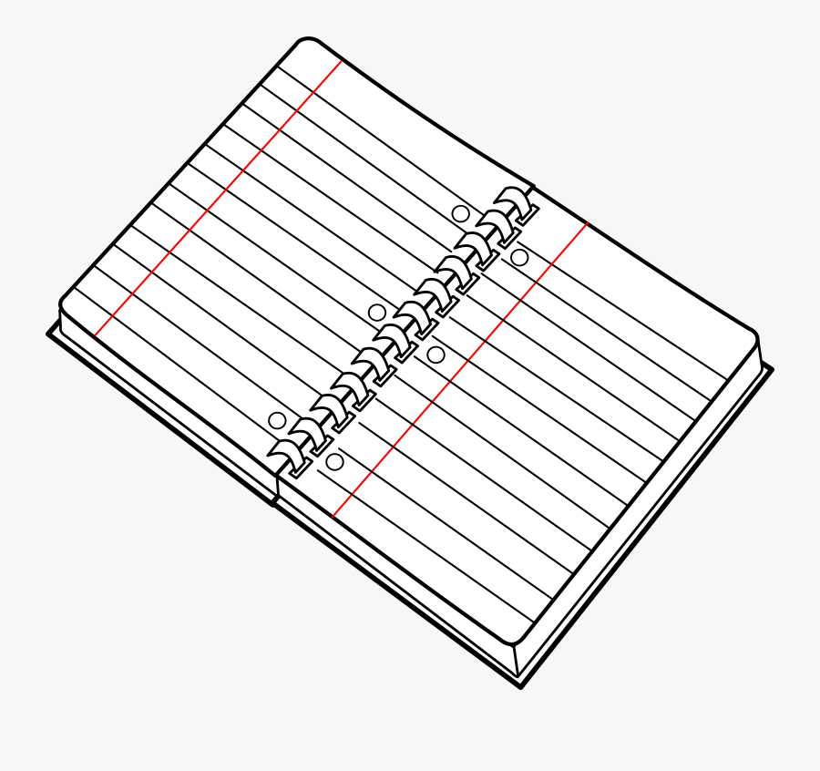 Square,angle,area - Clip Art Notebook Black And White, Transparent Clipart