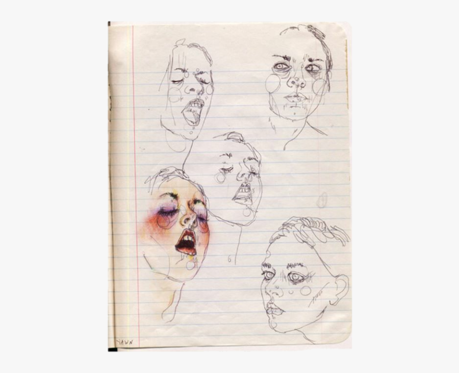 #drawing #art #notebook #paper #journal #sketch #woman - Drawing, Transparent Clipart
