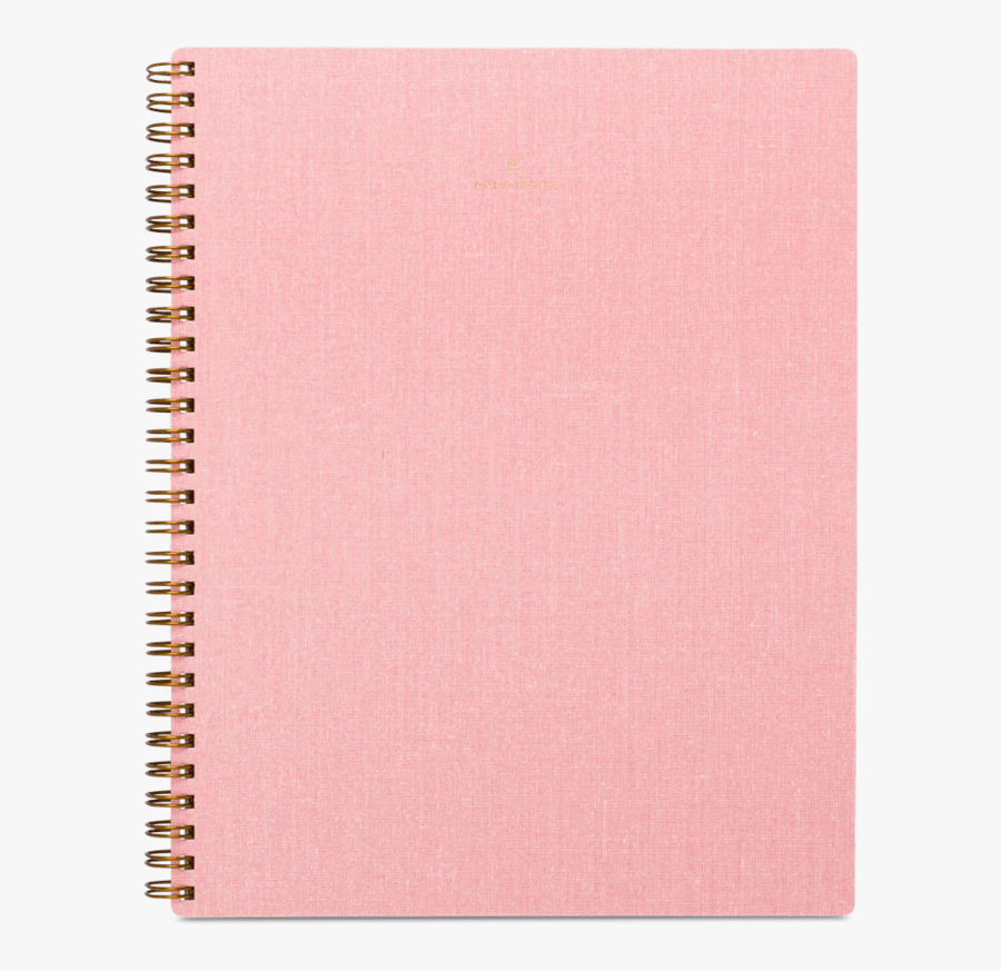 Notebook Blossom Pink Appointed - Pink Notebook Png, Transparent Clipart