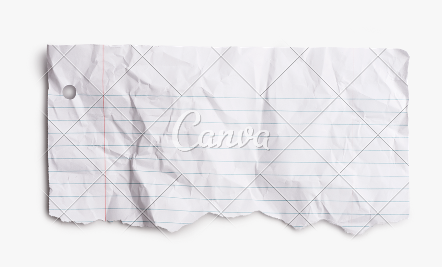 Piece Of Torn Note Photos By Canva - Piece Of Torn Wrinkled Note Paper, Transparent Clipart
