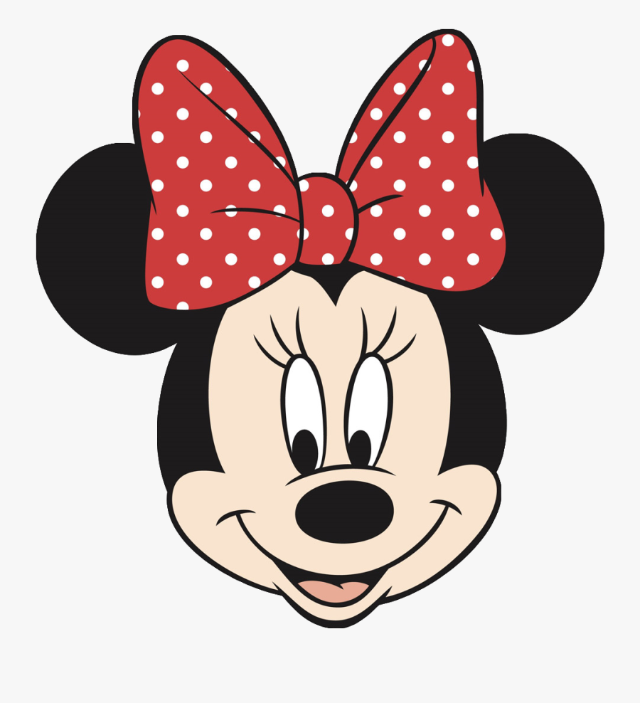 Minnie Mouse Face Cake Template - Minnie Mouse Face Disney, Transparent Clipart