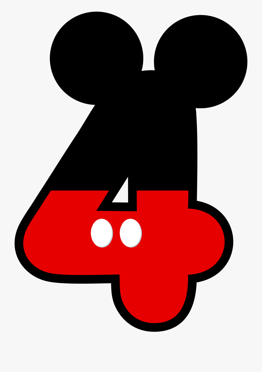 Numbers ‿✿⁀ - - Mickey Mouse 4th Birthday, Transparent Clipart