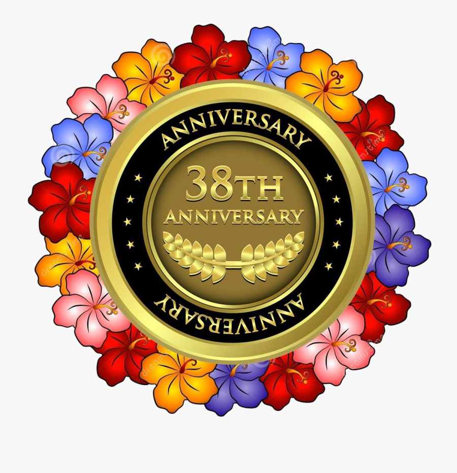 38 Anniversiary Lei - 12th Anniversary Medal, Transparent Clipart