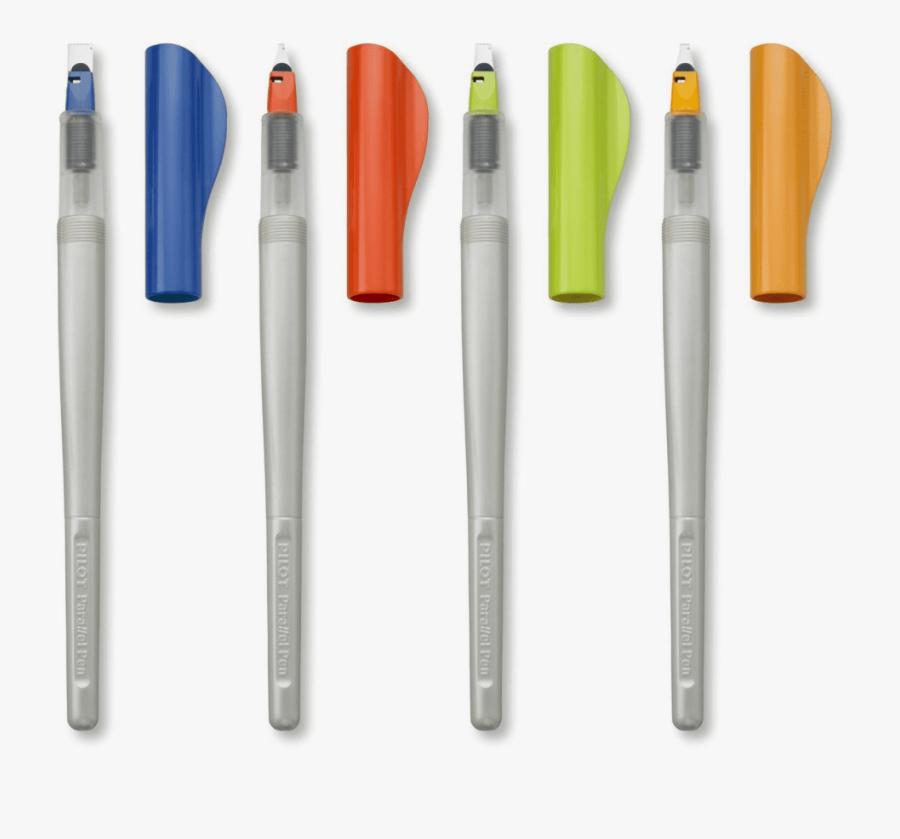 The Four Different Sizes Of Pilot Parallel Pens - Parallel Pen Pilot Cena, Transparent Clipart