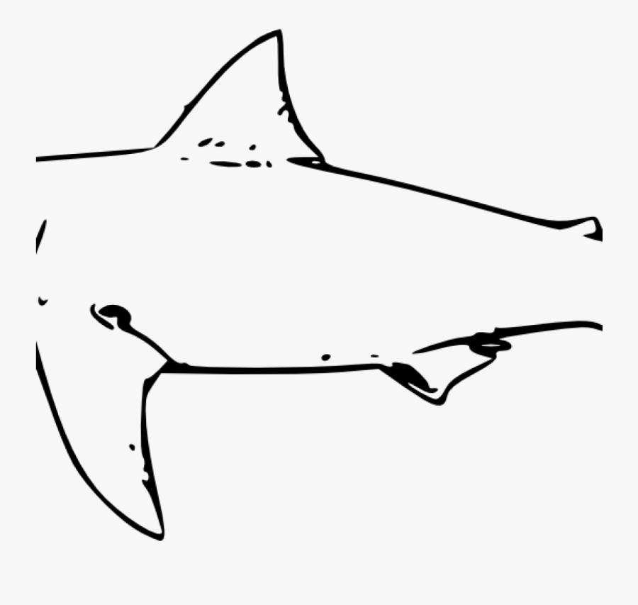 Shark Clipart Black And White Shark Clipart Black And - Great White Shark Clip Art, Transparent Clipart