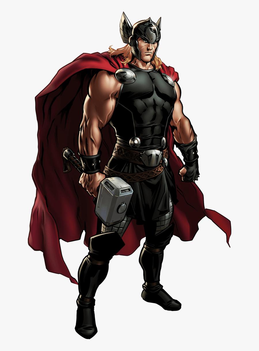 Foster America Comics Thor Alliance Marvel - Marvel Avengers Alliance 2 Thor, Transparent Clipart