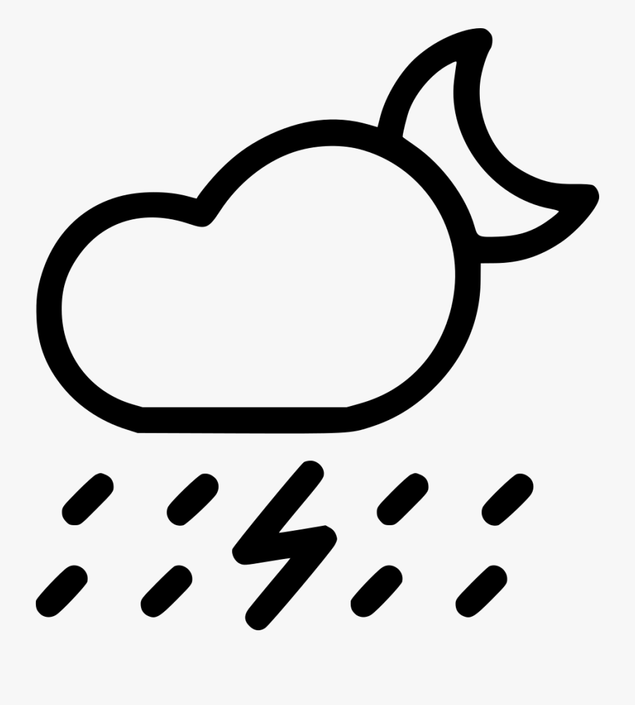 Fall Lightning Thunder Comments - Clouds And Rain Black And White Clipart, Transparent Clipart