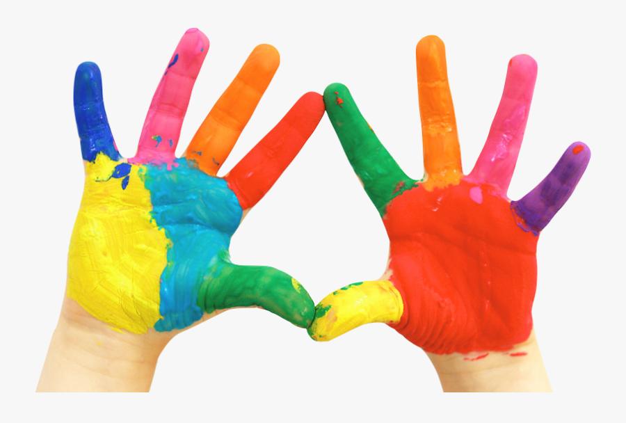 Paint Hand Painting Fingerpaint Child Free Png Hq Clipart - Transparent Hand Paint Png, Transparent Clipart