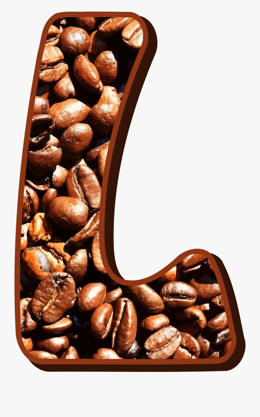 Nuts Clipart Bean - Letter E With Coffee Beans, Transparent Clipart