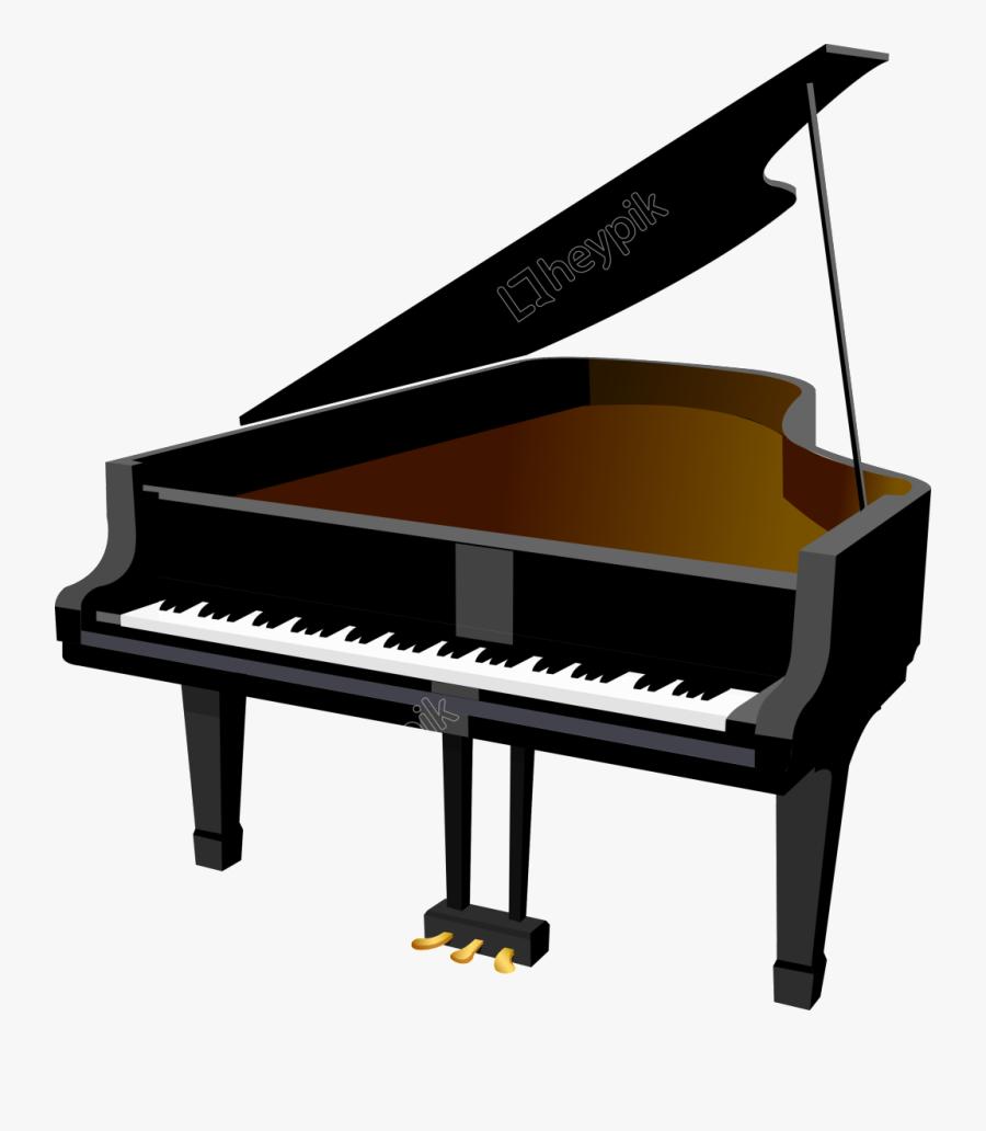 Transparent Harpsichord Clipart - Cartoon Piano Transparent Background, Transparent Clipart