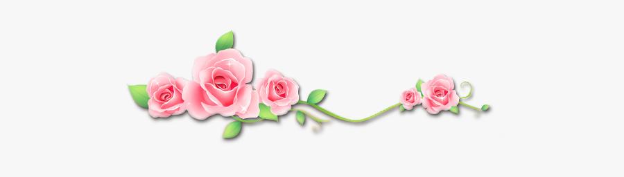#roses #flowers #vinesandleaves #divider #header #textline - Vector, Transparent Clipart