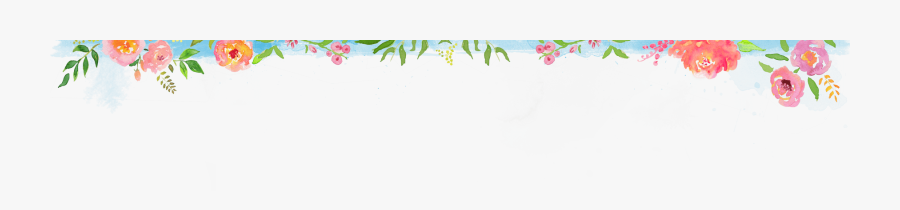 Flower Design Header Png, Transparent Clipart