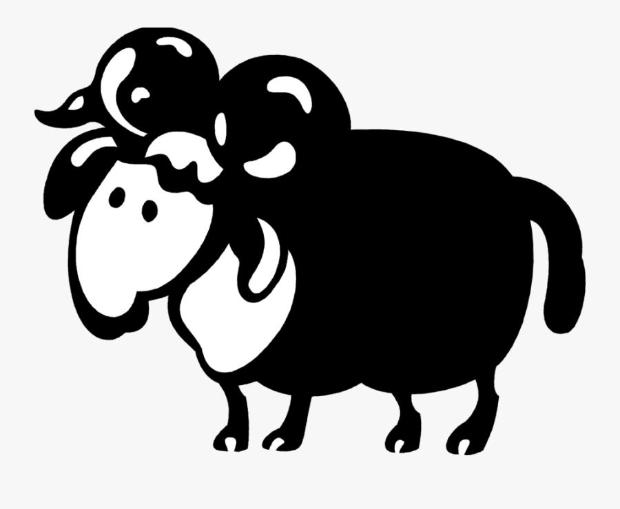 Ram With Horns Vector - Cartoon, Transparent Clipart