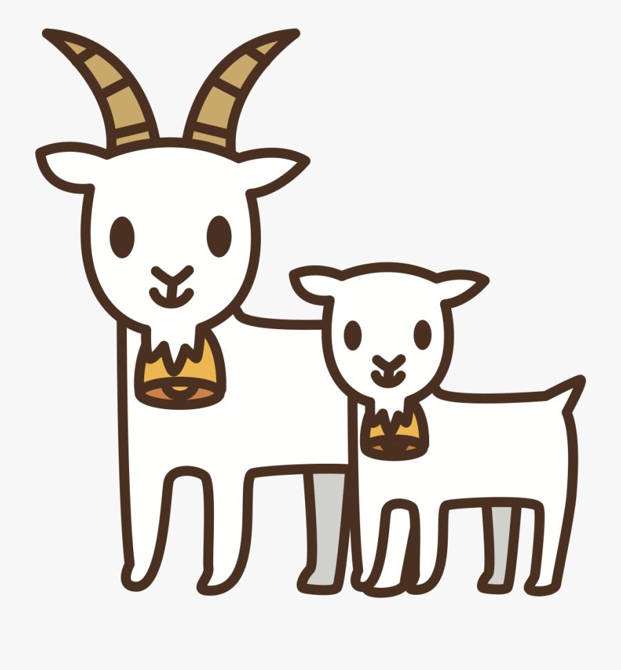 Goats - Goat Horns Clipart, Transparent Clipart