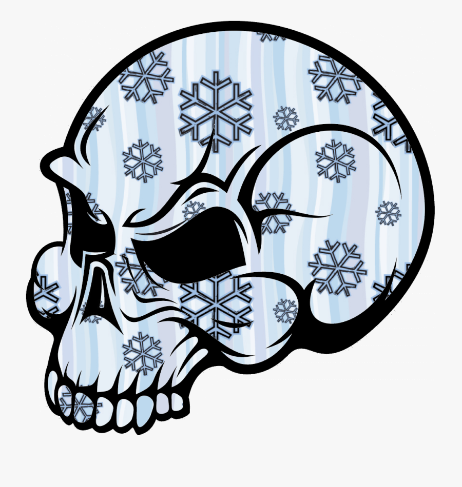 Skull Snow Image - Coloring Pages Skulls Flames, Transparent Clipart