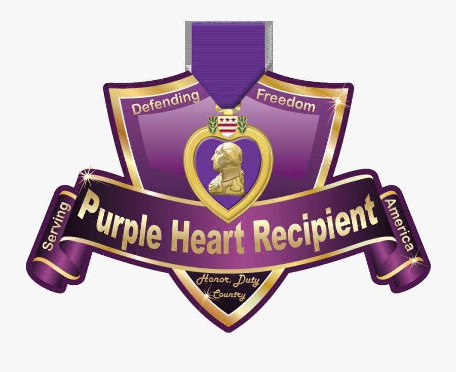 Purple Heart Medal Png - Crest, Transparent Clipart