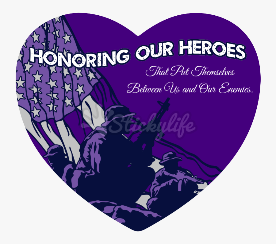 Purple Heart Day Decal - Graphic Design, Transparent Clipart