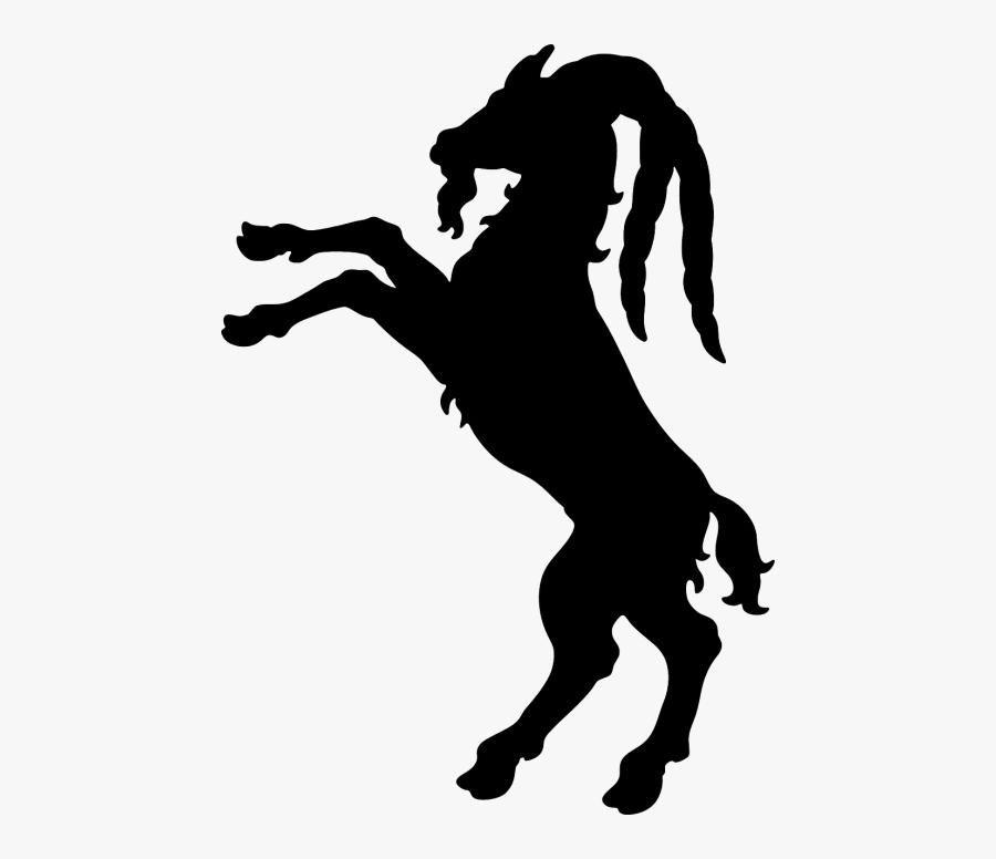 Goats Brown Ram Horns - Billy Goat Silhouette, Transparent Clipart