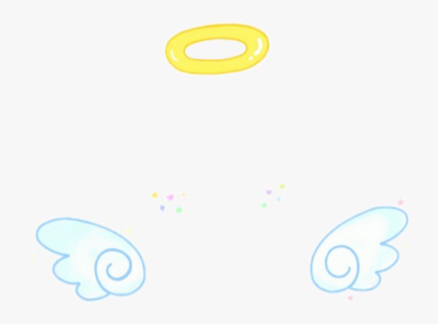 #angel #filter #snow #kawaii - Circle, Transparent Clipart