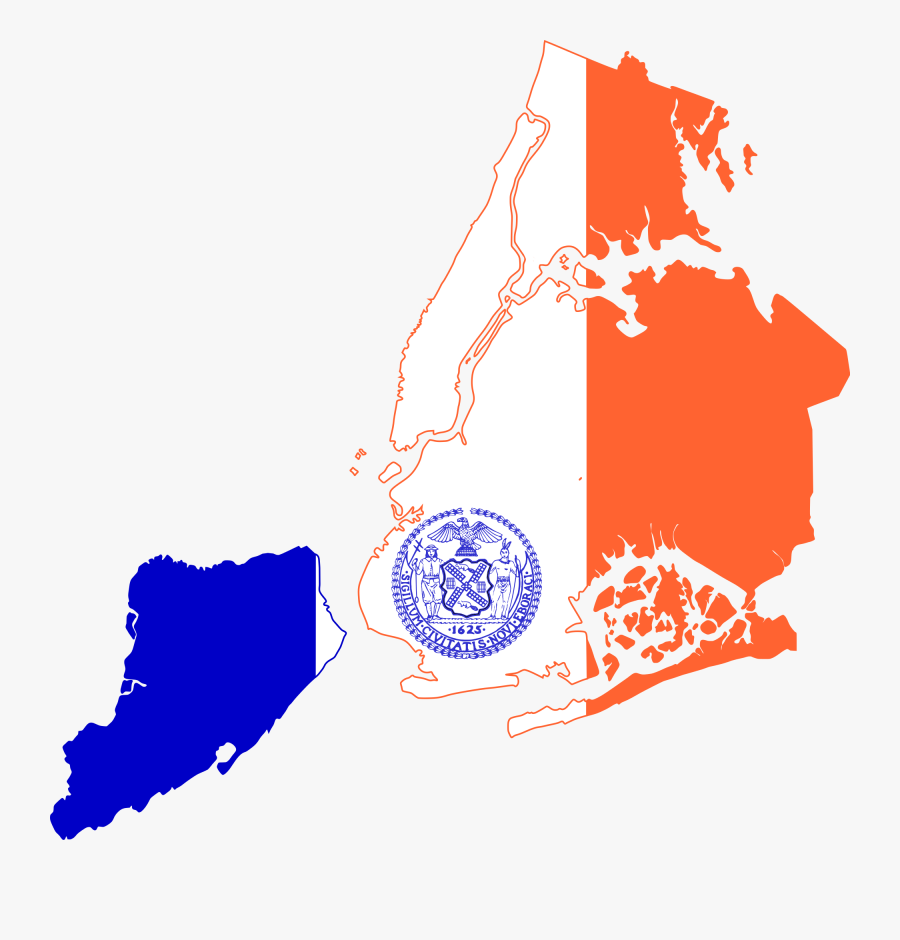 Clipart Transparent Library File Flag Of New - New York Flag Map, Transparent Clipart