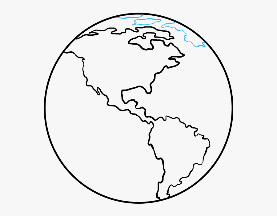 How To Draw Earth - Earth Drawing Transparent, Transparent Clipart