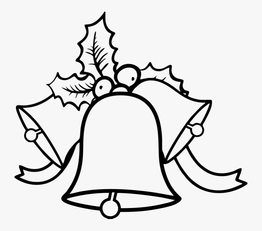 Bell Drawing Greeting - Christmas Bell To Color, Transparent Clipart