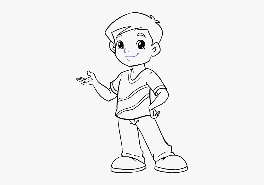 How To Draw Boy - Easy Cartoon Boy Drawing, Transparent Clipart
