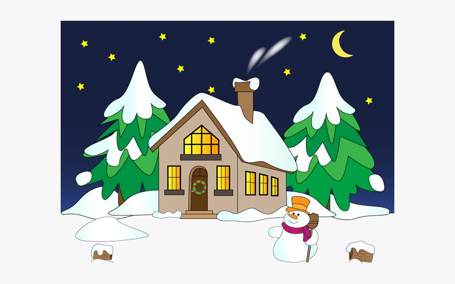 Winter Clipart , Transparent Cartoons - Christmas Tree House Cartoon, Transparent Clipart