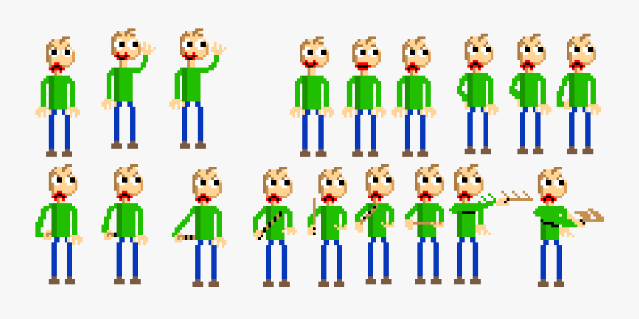 Baldi Sprite Sheet, Transparent Clipart