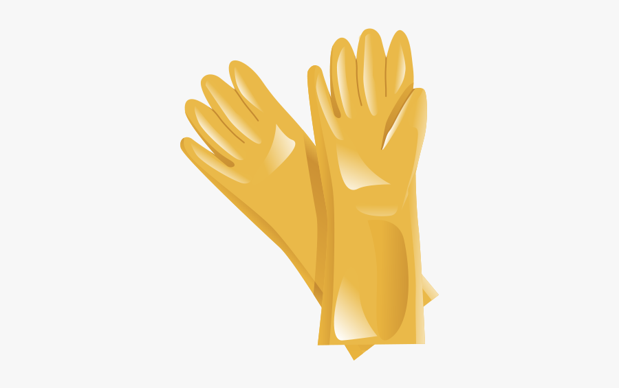 Glove,safety Glove,yellow,personal Protective Gloves - Illustration, Transparent Clipart