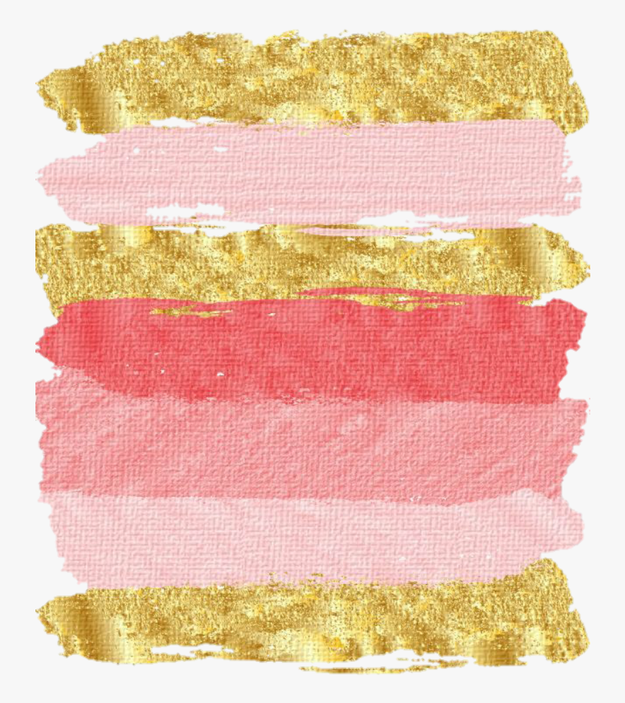 #rosegold #smear #smudge #painting #paint #lipstick - Pink And Gold Iphone Background, Transparent Clipart