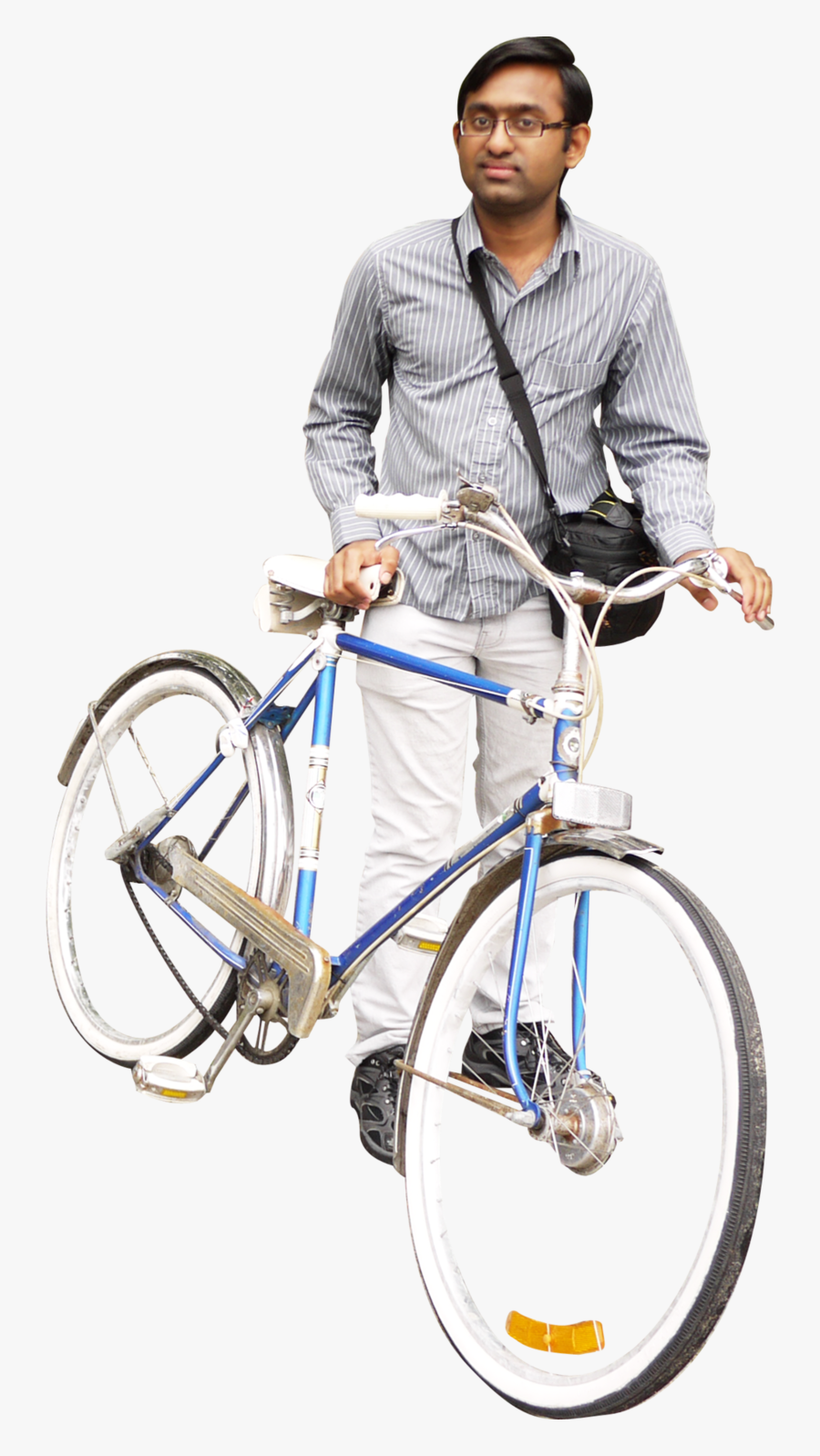 Riding Bicycle Four - Person With Bike Png, Transparent Clipart